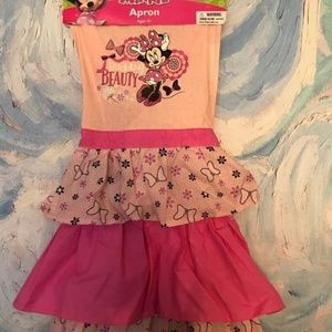 Disney  Pink Ruffle Minnie Mouse Cooking Apron